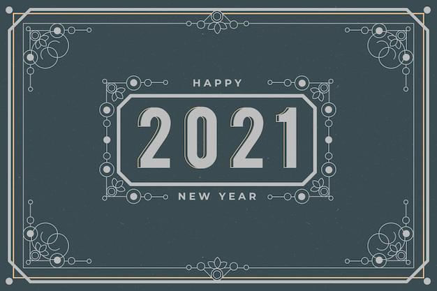 Tło wzór nowego roku 2021
