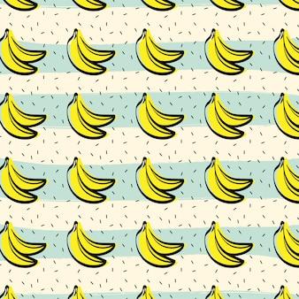 Tło wzór owoców bananowych