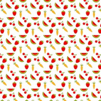 Tło wzór owoców i żywności