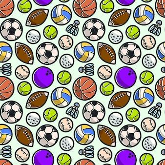 Tło wzór piłki sportowe