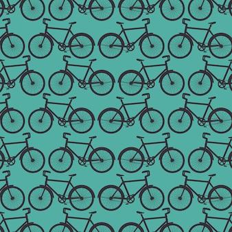 Tło wzór rower sportowy