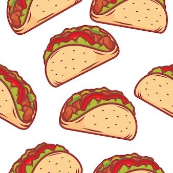 Tło wzór tacos