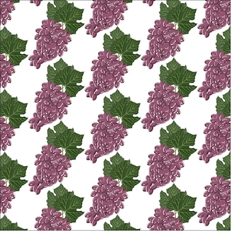 Tło wzór winogron