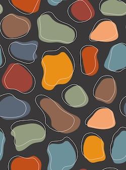 Tło wzór z abstrakcyjnych kształtów.