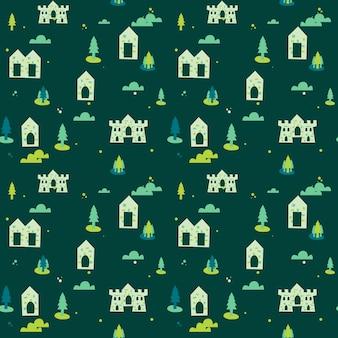 Tło wzór zielony wieś