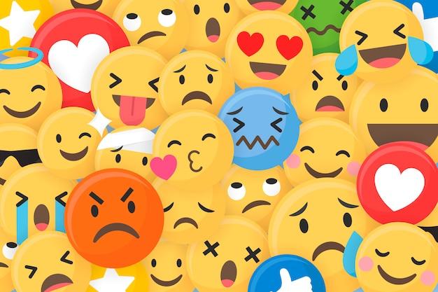 Tło wzorzyste emoji
