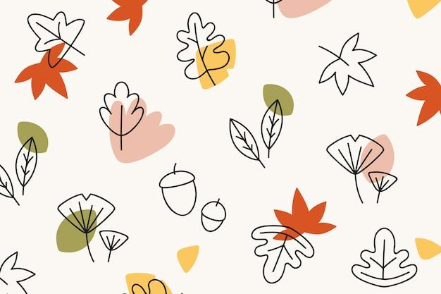 Tło wzorzyste jesienią