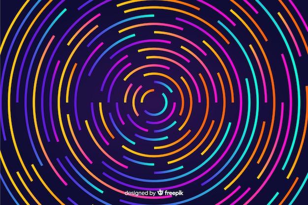 Tło z abstrakcjonistycznymi neonowymi kształtami