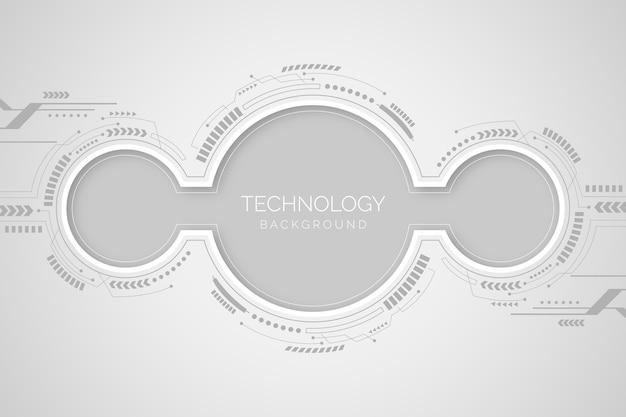 Tło z białą koncepcją technologii