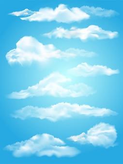 Tło z chmurami na niebieskim niebie