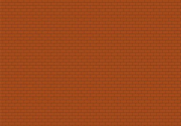 Tło z czerwonej cegły ściany. cegły tekstura wektor wzór.