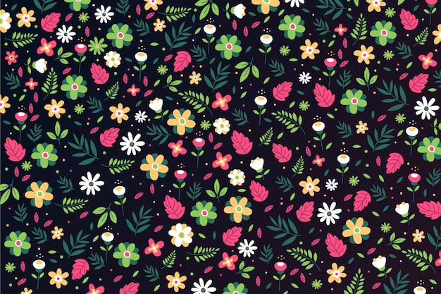 Tło z ditsy florals