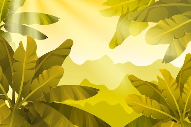 Tło z drzewami bananowymi