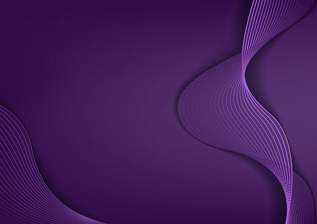 Tło z eleganckimi purpurowymi liniami