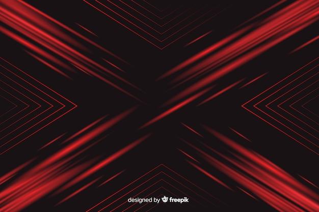 Tło z geometrycznym czerwonym światłem