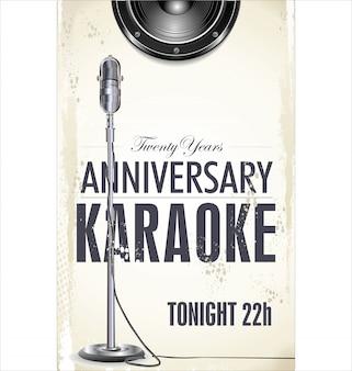 Tło z karaoke
