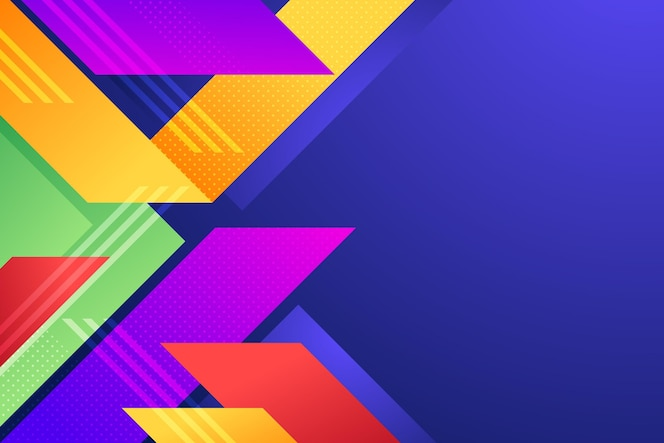 Tło z kolorowych różnych kształtów