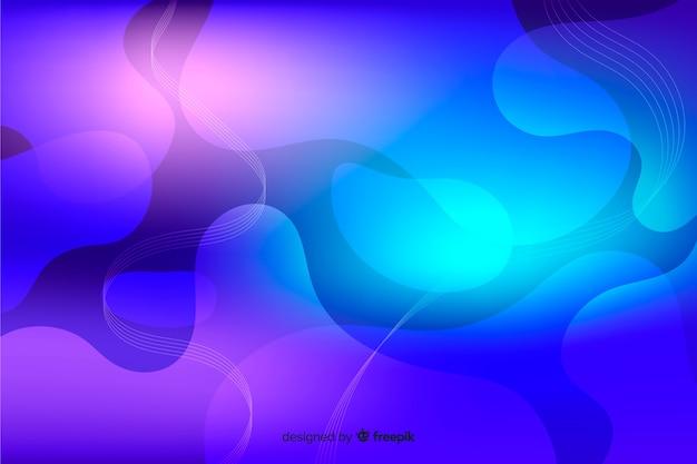 Tło z kolorowymi gradientowymi ciekłymi kształtami