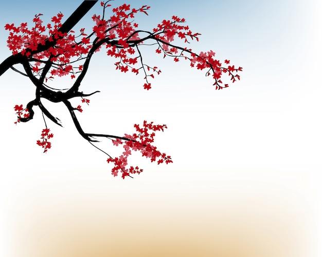 Tło z kwiatem