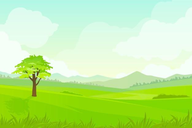 Tło z naturalnym krajobrazem do rozmów wideo