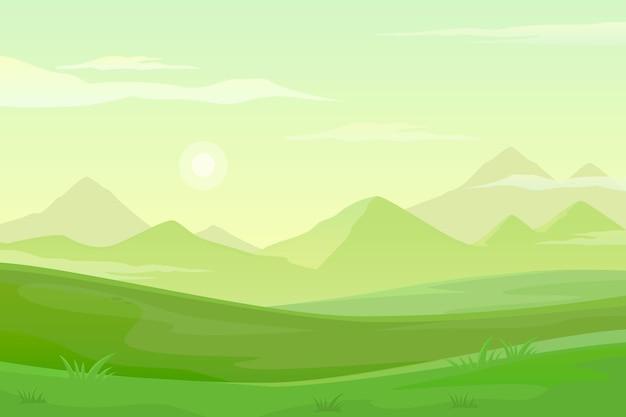 Tło z naturalnym krajobrazem do wideokonferencji
