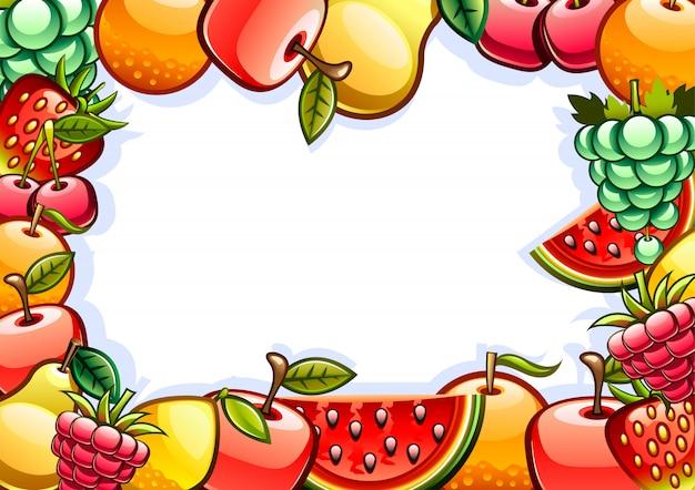 Tło z owocami