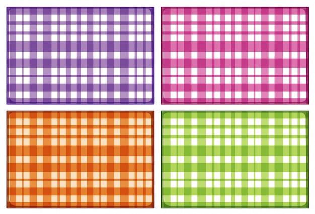 Tło z platerowanym wzorem w różnych kolorach