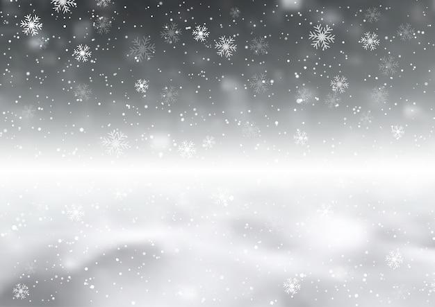 Tło z płatkami śniegu