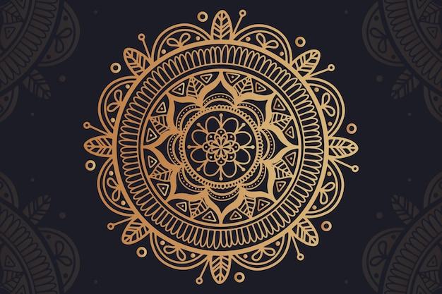 Tło z pojęciem luksusowej mandali