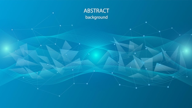 Tło z przezroczystych trójkątów i sieci krystalicznej. eps 10