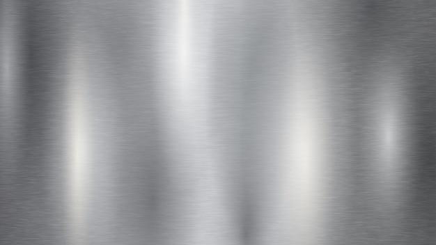 Tło z srebrną metalową teksturą