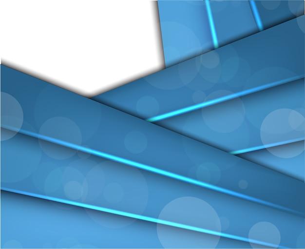 Tło z streszczenie niebieskie linie