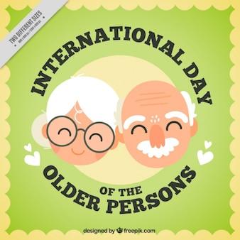 Tło z szczęśliwych dziadków