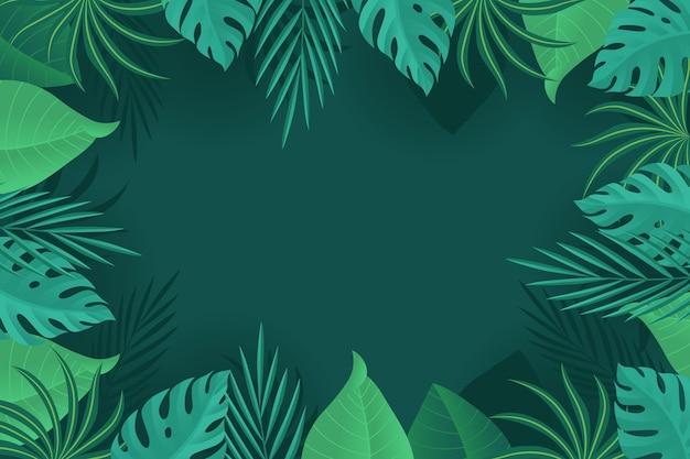 Tło z tropikalnymi liśćmi
