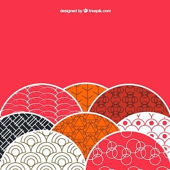 Tło z wzorami w stylu japońskim
