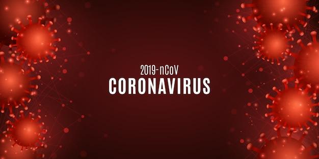 Tło zakażenia koronawirusem. covid 19
