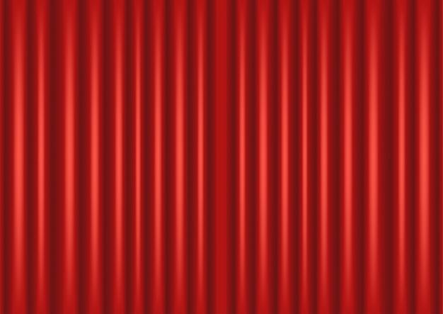 Tło zamkniętej czerwonej kurtyny, teatr, spektakl