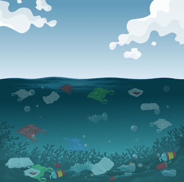 Tło zanieczyszczenia morza