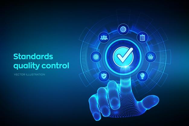 Tło zapewniania kontroli jakości według norm iso