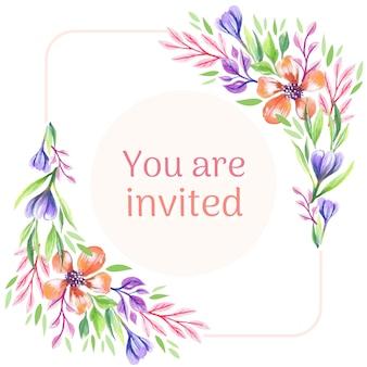 Tło zaproszenie kwiatowy
