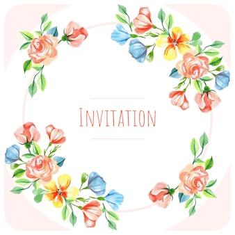 Tło zaproszenie na ślub kwiat