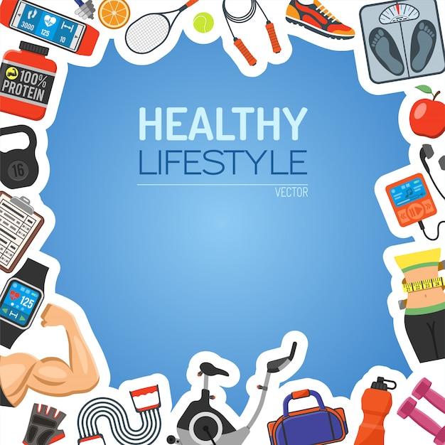Tło zdrowego stylu życia