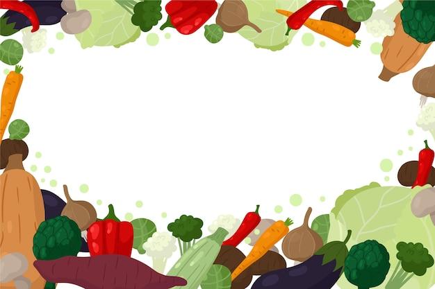 Tło zdrowej żywności