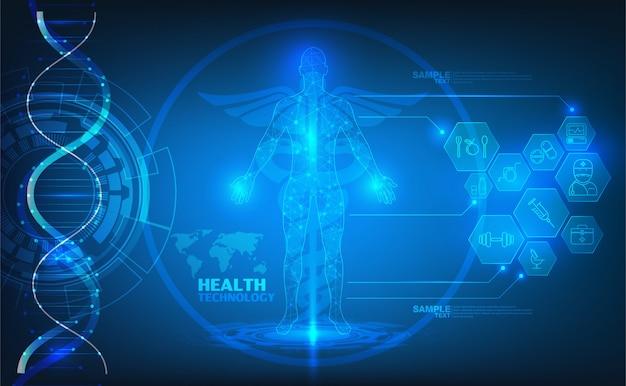 Tło zdrowie technologii