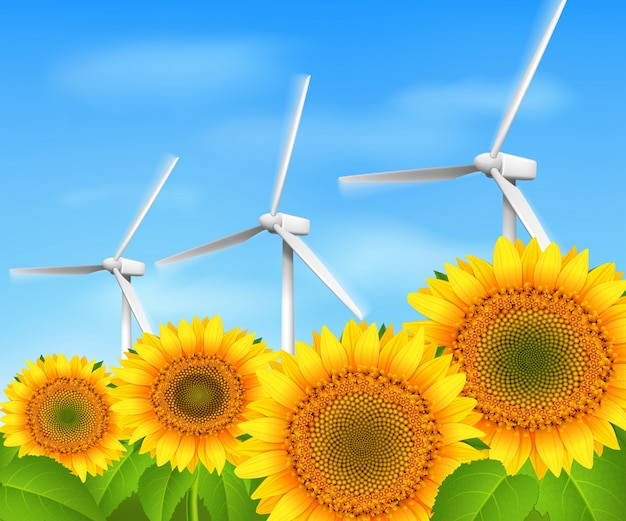 Tło zielonej energii