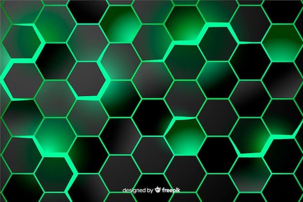 Tło zielony o strukturze plastra miodu