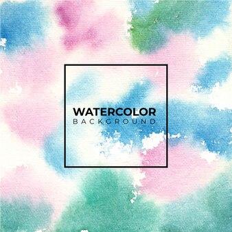 Tło zielony różowy niebieski akwarela tekstury, farby ręczne.