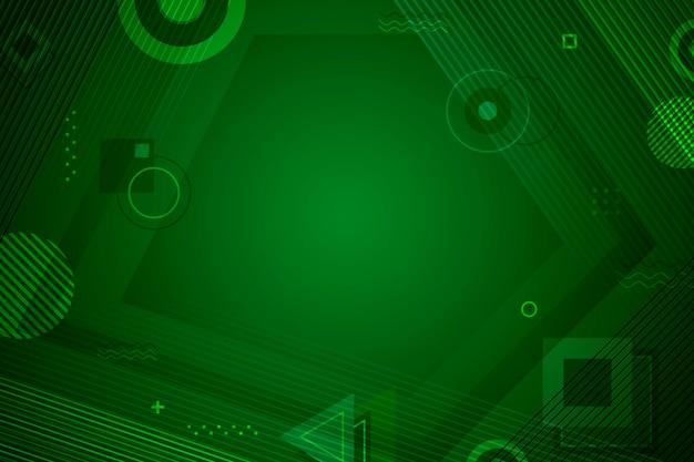 Tło zielony streszczenie geometryczne