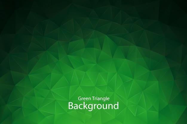 Tło zielony trójkąt geometryczny
