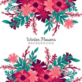 Tło zimowe kwiaty